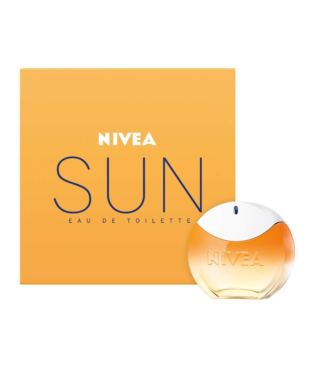 nivea sun eau de toilette (1 x 30 ml) mit dem original nivea sun  sonnencreme duft, sommerlicher damenduft im ikonischen parfum-flakon,  sinnliches
