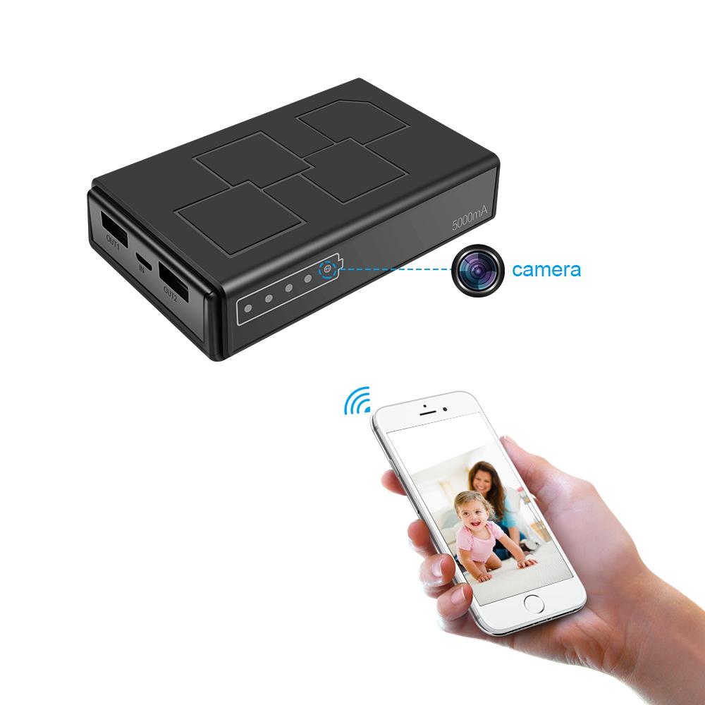 100 Getarnte Powerbank Wifi Kamera Mit Nachtsicht Eingebaute Mikrofone Bewegungserkennung Live Stream Via App Bestseller Shop Ch