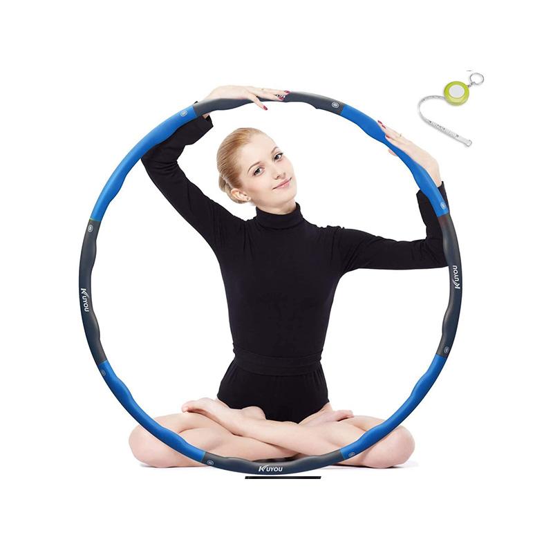 Einstellbarer Hula Hoop mit Tasche Rot-Schwarz Massagefunktion Zählfunktion